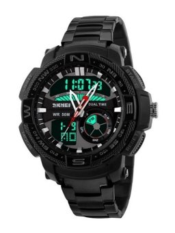 SKMEI Men's Black Stainless Steel Strap Watch 1121 Price Philippines