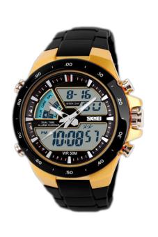 SKMEI Men's Black Rubber Strap Watch 1016