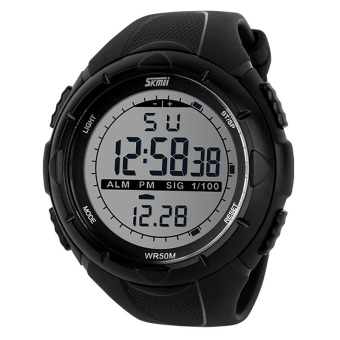 SKMEI Men's Sport LED Waterproof Rubber Strap Wrist Watch -Black1025 Price Philippines