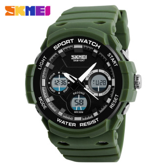 Skmei Outdoor Men's dual display sports electronic watch military form