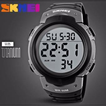 SKMEI Outdoor Pioneer Sports Digital Black Strap (Black and Silver)