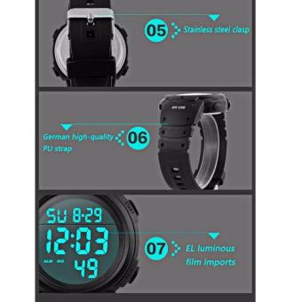 SKMEI Outdoor Pioneer Sports Digital Black Strap (Black and Silver) - 4