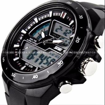 SKMEI S-Shock Fashion Sports Black Silicone Strap Watch Price Philippines