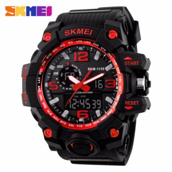 Skmei Silicone Strap Men's Watch AD1155 (Black/Red) Price Philippines