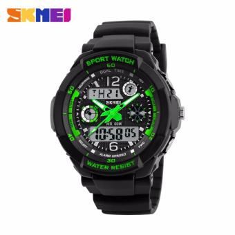 Skmei Silicone Strap Unisex Watch AD1060 (Black/Green) Price Philippines