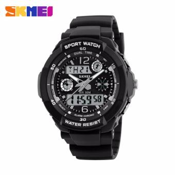 Skmei Silicone Strap Unisex Watch AD1060 (Black/White) Price Philippines