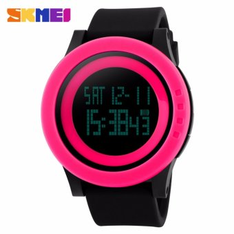Skmei Silicone Strap Unisex Watch DG1142 (Pink/Black) Price Philippines
