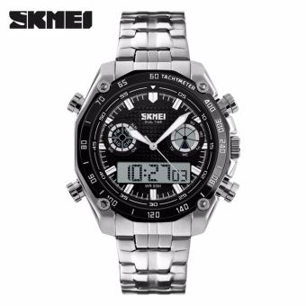 Skmei Stainless Steel Strap Men's Watch 1204 (Black)