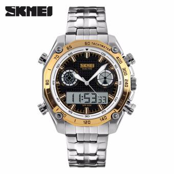 Skmei Stainless Steel Strap Men's Watch 1204 (Gold)