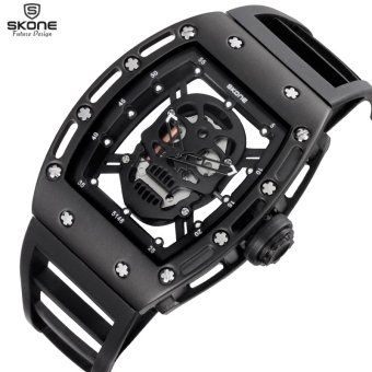SKONE Men Sports Watch Quartz Mens Watches Silicone Watch - intl