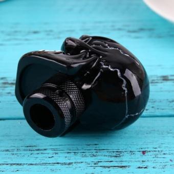 Skull Head Car Gear Shift Knob Modification Car InteriorAccessory(Black) - intl - 5