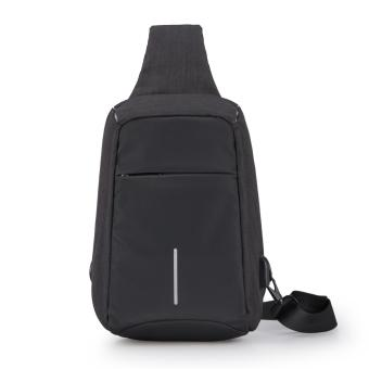 Sling Backpack, Antitheft Waterproof Outdoor Shoulder Chest PackUnbalance Crossbody Bag for Men Boys Travel Daypack - intl