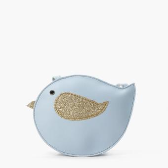 SM Accessories Girls Bird Sling Bag (Light Blue)