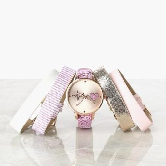 SM Accessories Girls Heartbeat Interchangeable Strap Watch
