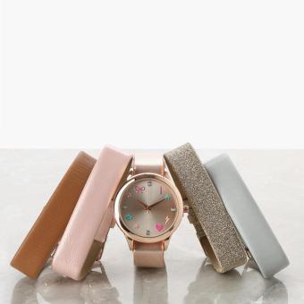 SM Accessories Ladies Analog Watch Set (Multicolored)