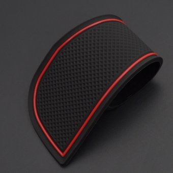 SMABEE car Gate Slot Pad for HONDA JAZZ 2014-2017 Have a centralarmrest box model Non-slip Mats Automotive Interior Coaster Dustred - intl - 3