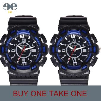 SMAEL C804 Fashion Men Black Silicone Strap Sport Quartz WristWatch/BUY ONE TAKE ONE Price Philippines