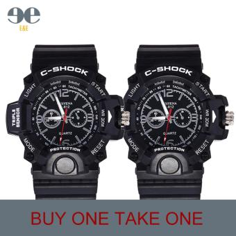 SMAEL C812 Fashion Men Black Silicone Strap Sport Quartz WristWatch/BUY ONE TAKE ONE Price Philippines