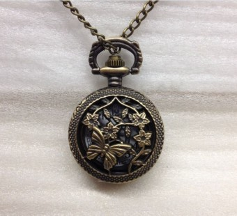Small porous Butterfly pocket watch