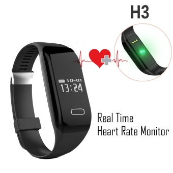 Smart wristband H3 heart rate monitor fitness watch waterproofsmartband Passometer Fitness Tracker smart bracelet PK mi band -intl