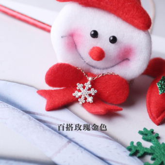 Snow s925 Jianyue Christmas sterling silver elegant necklace