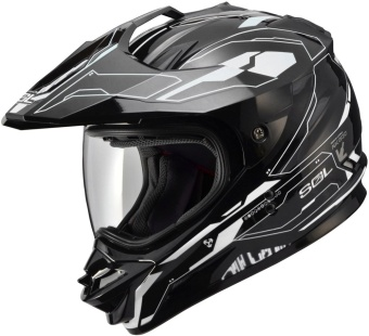 SOL Dual Sport Motard SS-1 Edge Motorcycle Helmet (Black Edition)