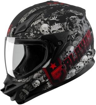 SOL Dual Sport Motard SS-1 PG Motorcycle Helmet (Glossy Black/Red) - 3