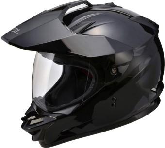 SOL Dual Sport Motard SS-1 Solid Motorcycle Helmet (Black)