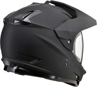 SOL Dual Sport Motard SS-1 Solid Motorcycle Helmet (Flat/Matte Black) - 2