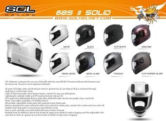 SOL FullFace SL68S-II Solid Motorcycle Helmet (Matte Darker Silver/Silver) - 3