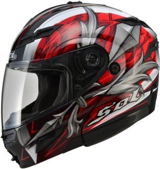SOL Modular SM-1 Sword Motorcycle Helmet (Black/Red)