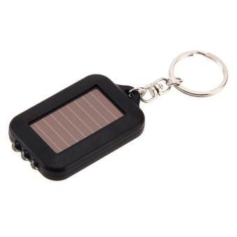 Solar Energy 3 Light LED Electric Torch Key Chain Accessory (Black) - picture 2