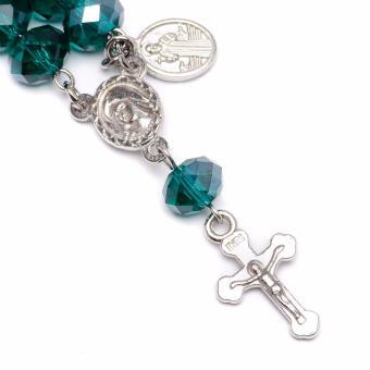 Soleful by Cez May Birthstone Rosary Keychain with Prayer Card (Emerald) - 3