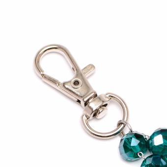 Soleful by Cez May Birthstone Rosary Keychain with Prayer Card (Emerald) - 4