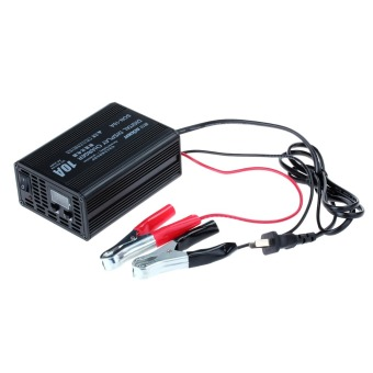 SON10A 12V and 6V 10A Car Motorcycle Battery Charger #0032 (Black)