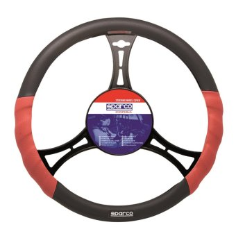 Sparco SPC1102L Steering Wheel Cover (Red/Black)