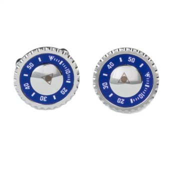 Speedometer Official Cufflink Steel (Blue)