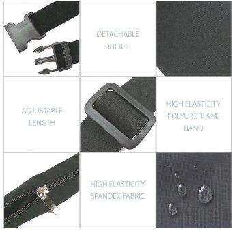 Sports Expandable Waist Belt Bag #0182 (Black) - 4