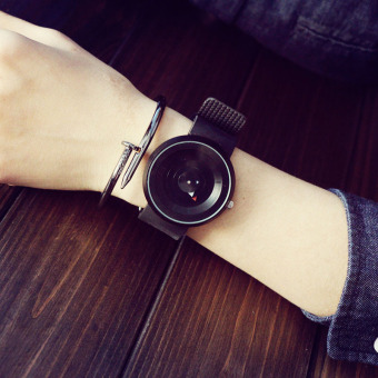 Sports minimalist concept turntable High School Students quartz watch men and women watch