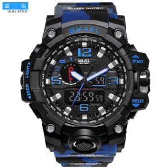 Sports outdoor big dial military watch dual display watch