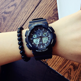 Sports Stylish men and women students multifunction electronic watch