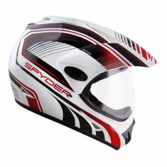 Spyder Dual Sport Helmet Motard 168 (White/Black/Red)