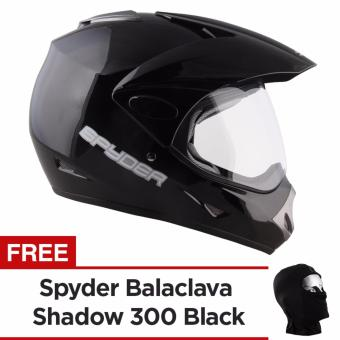 Spyder Dual Sport Helmet Motard 300 (Black)-Large with Free SpyderHeadgear Black