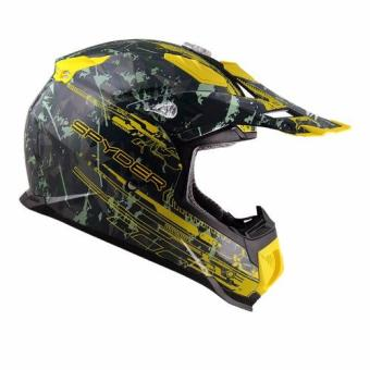 Spyder Motocross Helmet Brawl G 483 (Green/Yellow)-Large