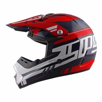 Spyder Motocross Helmet Dirt G 765 (Navy Blue/Red/White) -Large - 5