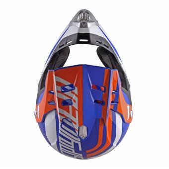 Spyder Motocross Helmet Dirt G 795 (White/Blue/Orange) -Medium - 4