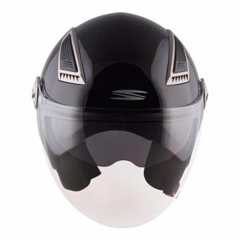 Spyder Open-Face Helmet with Dual Visor Titan PD 300 (Black) -XL - 2