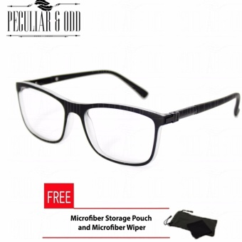 Square Clear Lens Replaceble Eyeglass with Spring Hinges Unisex_E126_BlackGray Optical Frame Replaceable Lens - Unisex
