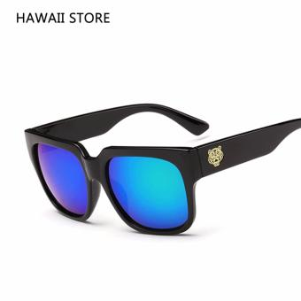 Square Men Black Sunglasses Man Original Designer Eyewear Sun Glasses for Men UV400 Mirror Lunette de soleil 2016 Vintage Shades - intl