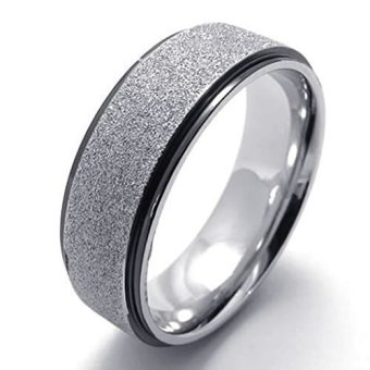 Stainless Steel Fashion Men's Rings Classical Love Lovers (Intl)